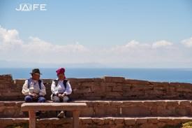Les hommes de l'ile de Taquile