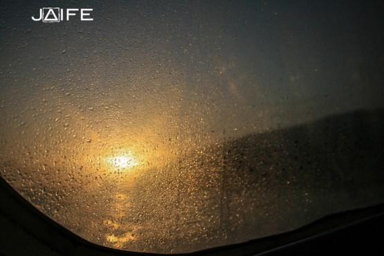Soleil depuis le bateau