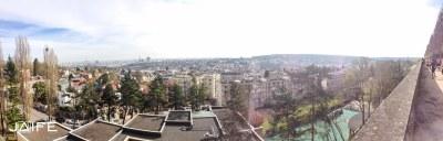 La vue depuis le parc de l'observatoire