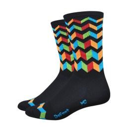 chaussettes-defeet-aireator-6-pouces-jitter-bug-high-rouleur-noir-bleu-orange