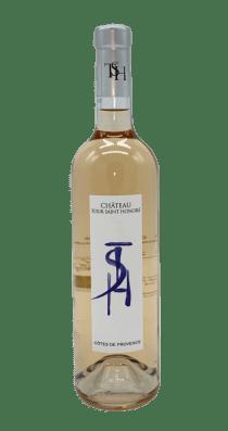 une bouteille de château tour saint honoré rosé
