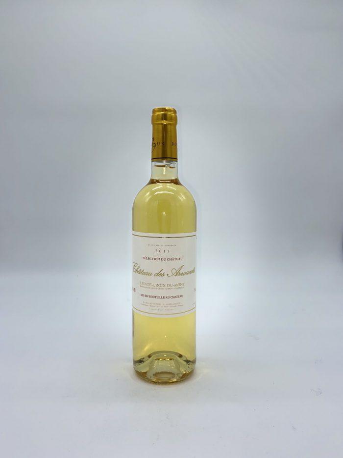 Bouteille de vin blanc Sainte Croix du Mont, Château des Arroucats