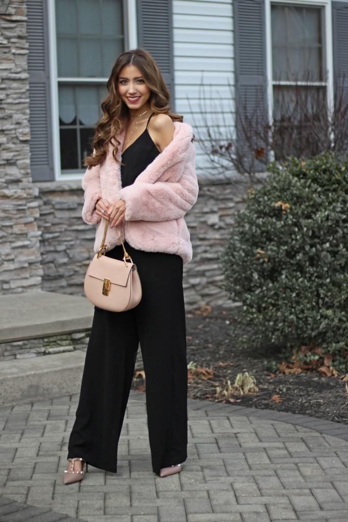 2b140fd58e6 Glam Holiday Jumpsuit + Holiday Party Outfit Ideas -