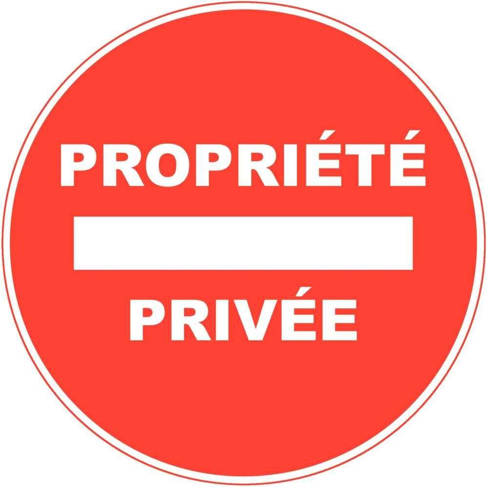 Panneau Signaletique En Pvc Rond Adhesif Propriete Privee N C Vente De Plaque De Signalisation La Centrale Du Bureau