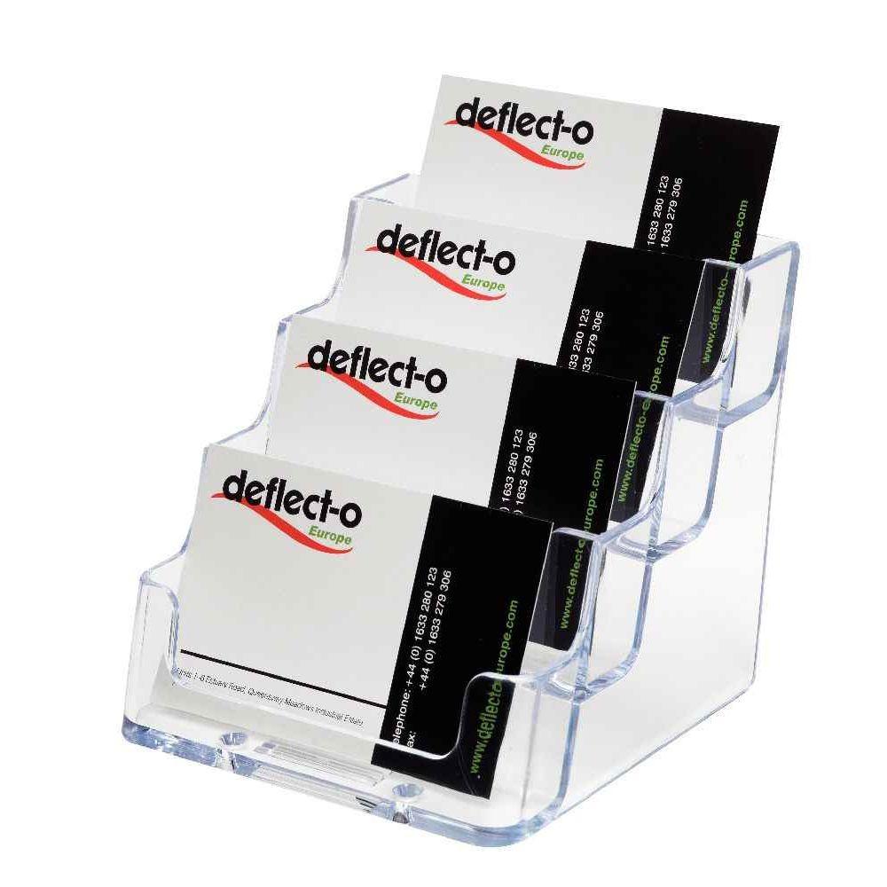porte cartes de visite 4 cases transparent