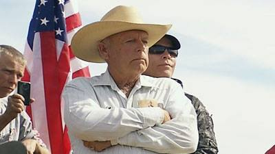Vincent Easley filming Cliven Bundy at standoff in Clark County April 12, 2014. Photo Courtesy of Vincent Easley.