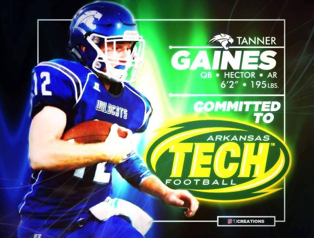 Hector's Quarterback Tanner Gaines to Play for Arkansas Tech