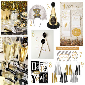 Black and Gold New Years