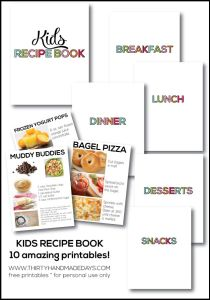 I Saw On 30 Day Blog She Had Made A Cute Printable Binder With Kid Friendly Recipes Typed Up It Totally Inspired Me