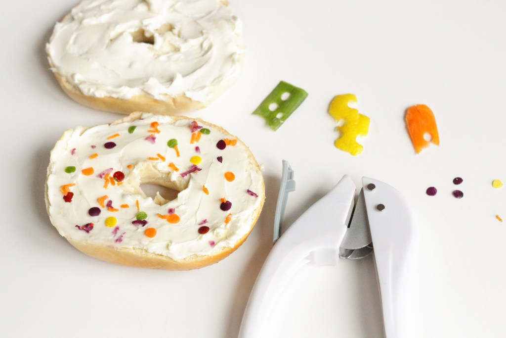 confetti bagel hole punch