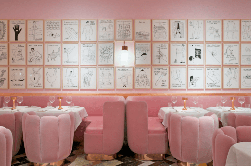India Mahdavi's pink - From London to Rome - Featured on La Chaise Bleue (lachaisebleue.com)