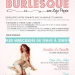 Cours d'effeuillage Burlesque à Montpellier avec Zaza Poppin