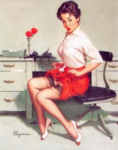pin-up secretaire