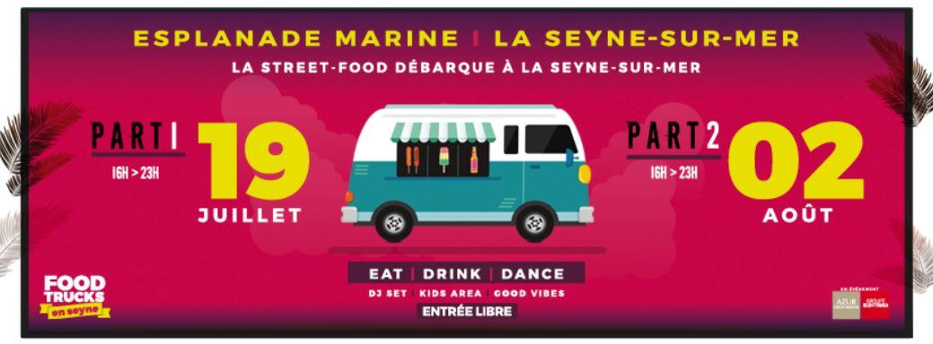 Food truck en Seyne le 19 juillet et le 2 aout à La Seyne sur Mer