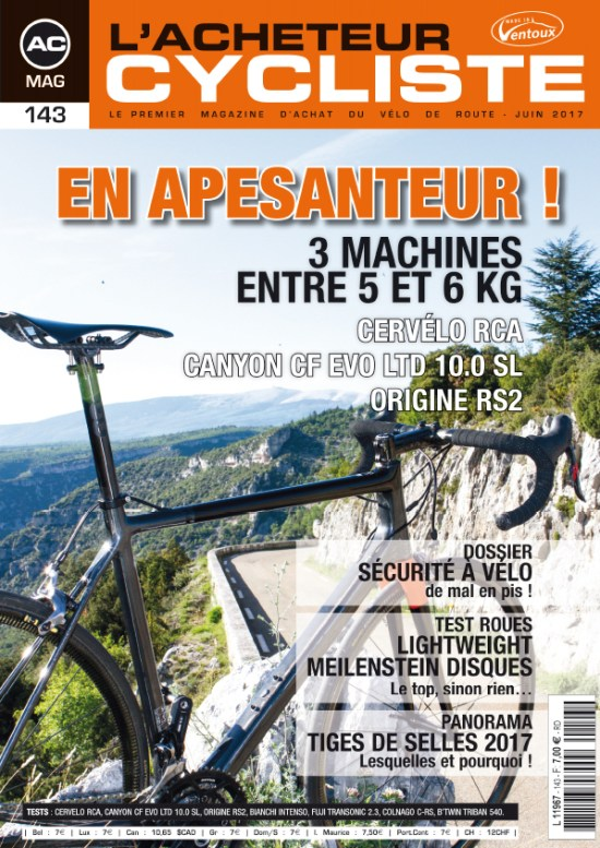 L'ACHETEUR CYCLISTE N°143 - JUIN 2017