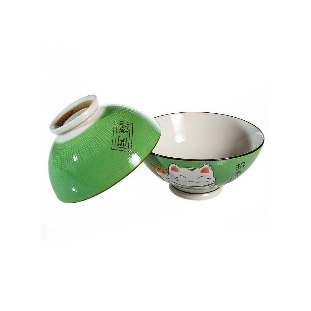 2 bols a soupe ou a ramen vert