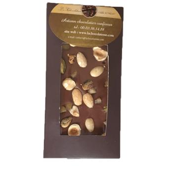 tablette chocolat lait mendiant