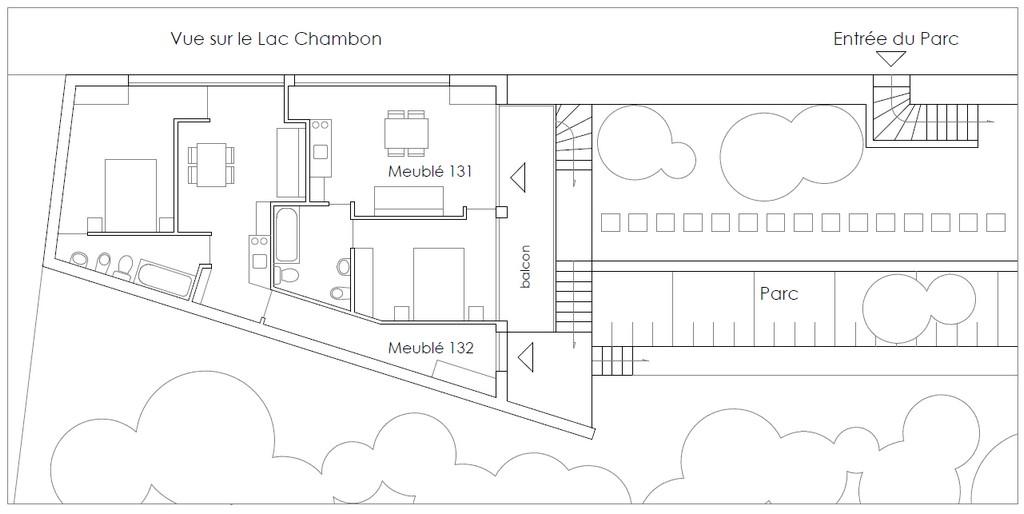 Plan des meublés en location