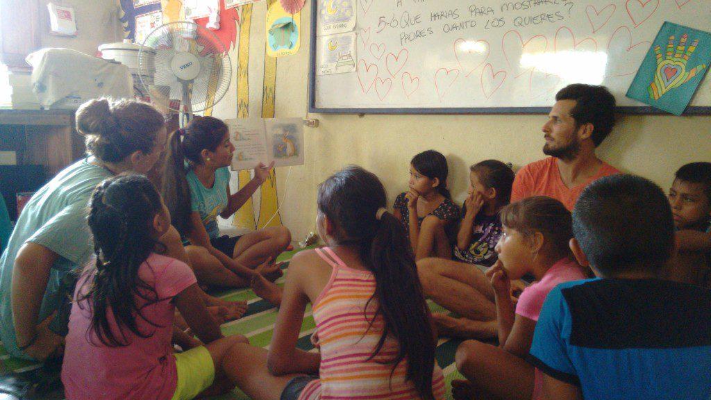 Children having a class
