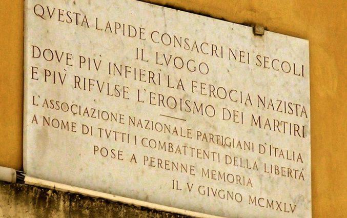 Museo Liberazione di Roma - targa in memoria