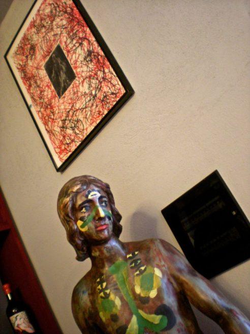 Montalcino_statua sala degustazione