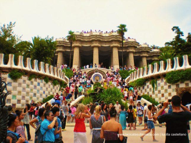 Quartieri di Barcellona cosa vedere _scalinata
