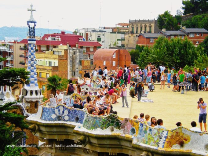 Parc Güell massoneria e magia _terrazza stretta