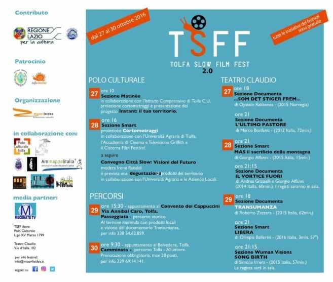 Tolfa Slow Film Fest -locandina