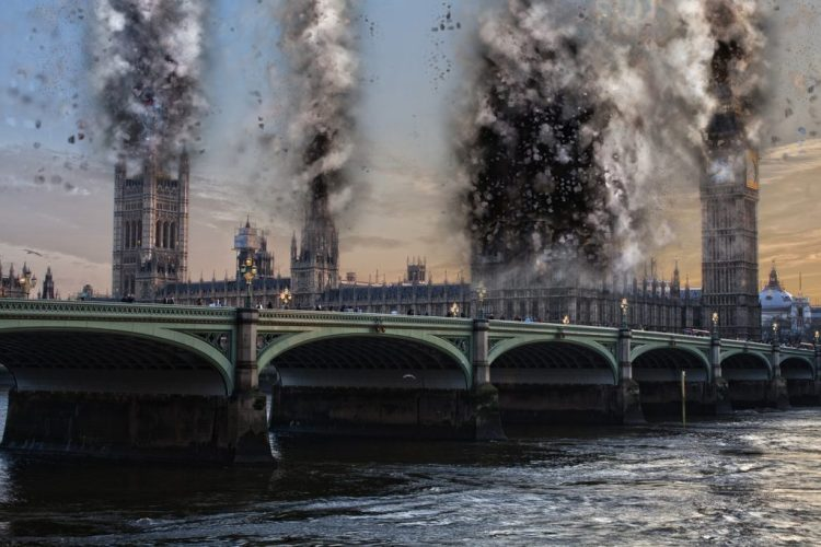 film girati a Londra: esplosione parlamento in V per vendetta