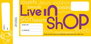cheque cadeau live in shop