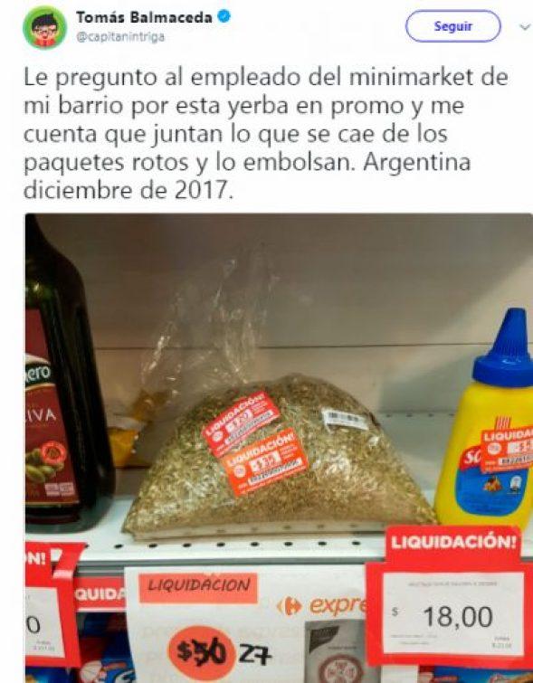 En Carrefour venden la yerba que se cae al piso 2