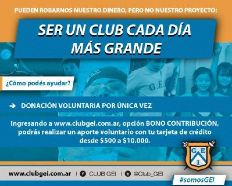 Todos juntos #SomosGEI: El club no se resigna y apela una vez más a la solidaridad 2