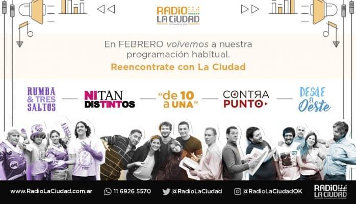 ¡Increíble lo que trae este lunes el nuevo ciclo de Radio La Ciudad!