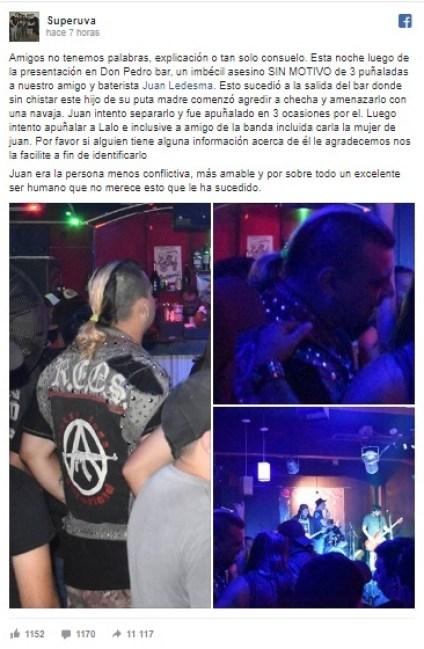 Asesinaron al baterista de la banda punk Superuva en Quilmes 2