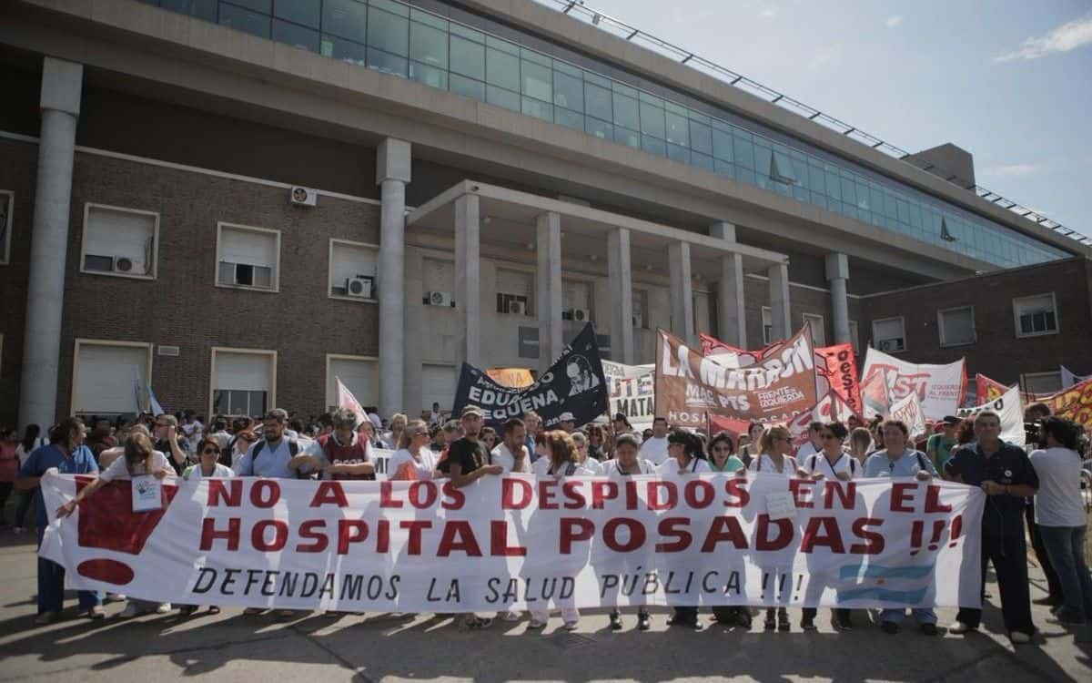 Temen por nuevos despidos en el Hospital Posadas