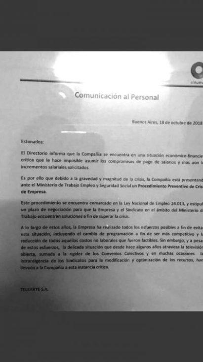 Canal 9 suspendió el pago de sueldos y se preanuncia el cierre 2