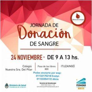 Jornada de donación de sangre para el Hospital Posadas 2