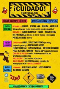 Se realiza en la Sociedad Italiana de Morón el evento '¡Cuidado! Festival de arte' 2