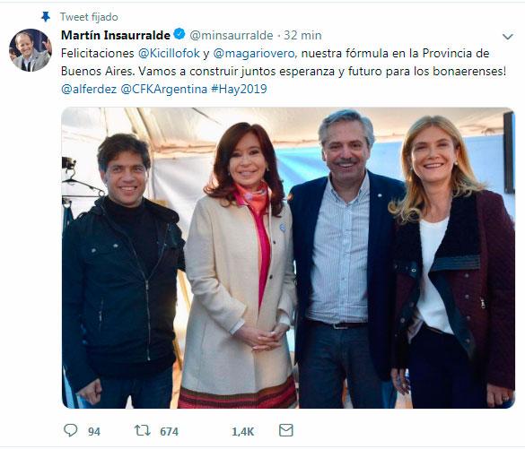 Confirmado: Kicillof -Magario será la fórmula del peronismo para competir en la Pcia de Buenos Aires 2