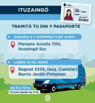 Ituzaingó Sur: este fin de semana se podrá hacer DNI o pasaporte 2