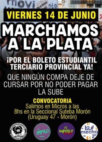 Los profesorados de Morón se organizan para marchar a La Plata a pedir por el boleto terciario provincial 2