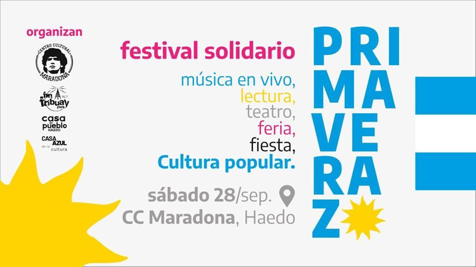 Primaverazo en Haedo: Festival cultural a beneficio de espacios sociales