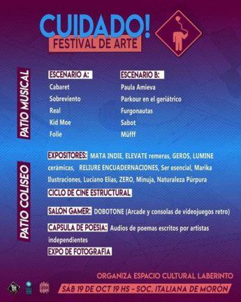 Llega una nueva edición del Festival 'Cuidado!' en la Sociedad Italiana de Morón 1