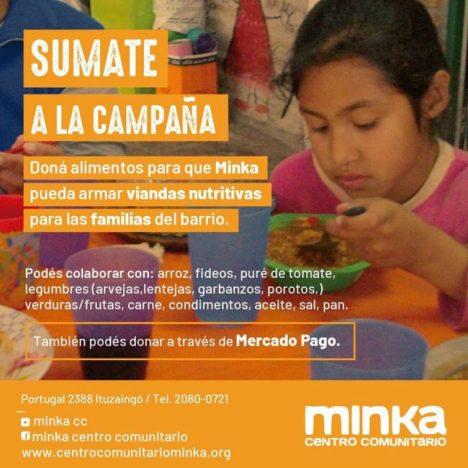 Ituzaingó: Minka solicita donaciones de alimentos no perecederos 1