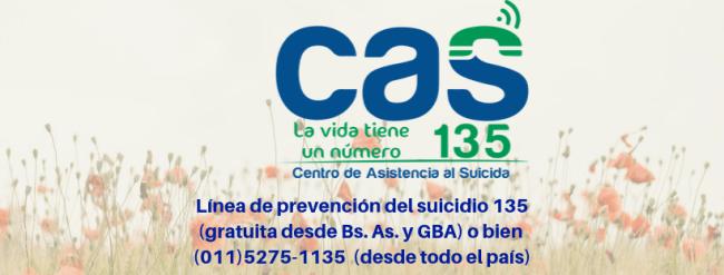 Línea 135: El número de la institución que trabaja en prevención del suicidio 3