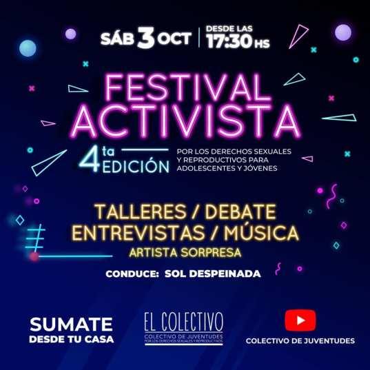 Se realizará virtualmente el Festival Activista por los derechos Sexuales y Reproductivos de las juventudes 1