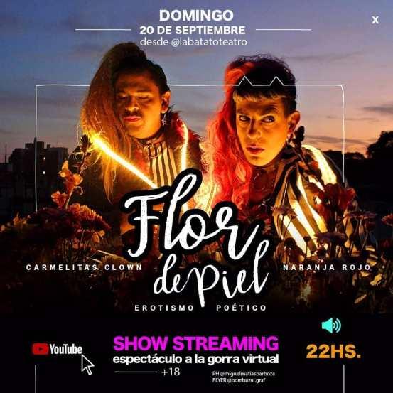 Carmelitas Clown presenta el show teatral 'Flor de piel' a través de streaming 2