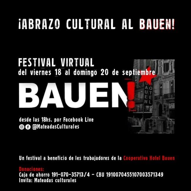 Se realizará un festival solidario a beneficio de los trabajadores del Hotel BAUEN 1