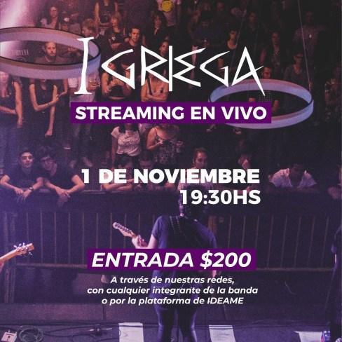 I Griega realizará su primer show streaming 1