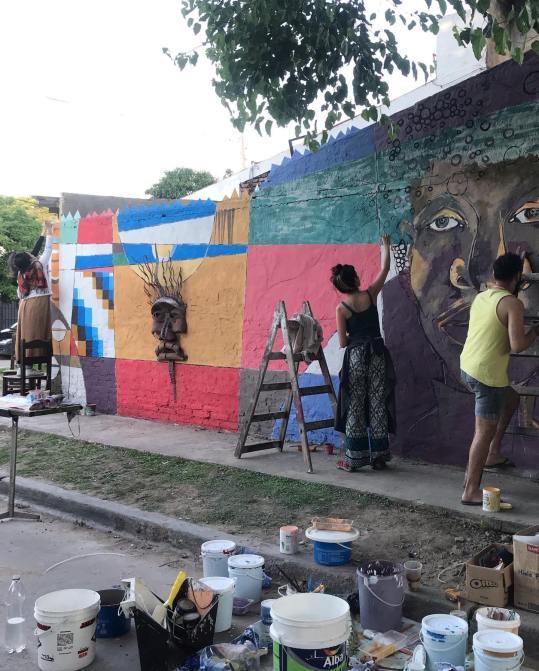 Se inaugura en Morón un mural colectivo por el Día de los afroargentinos 1